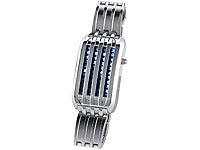 St. Leonhard Extravagante Designer-Armbanduhr mit LED-Animation (refurbished)